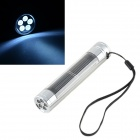 HQ-L05 Solar Powered 5-LED White Light Flashlight - Silver