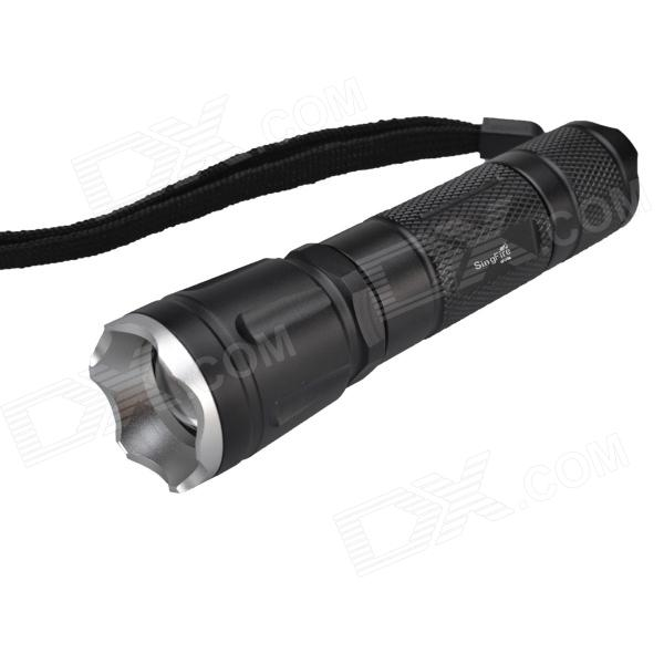 SingFire SF-70B 600lm 5-Mode White Zooming Flashlight w/ Cree XM-L T6 - Black (1 x 18650 ) singfire sf 705a 800lm 5 mode white zooming flashlight w cree xm l t6 black 3 x aaa 1 x 18650