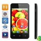 "M1 Android 2.3.6 GSM Bar Phone w/ 4.0"" Capacitive Screen, Wi-Fi, Dual-Band and Dual-SIM - Black"