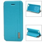 USAMS Protective PU Leather Flip Open Case for Iphone 5C - Blue