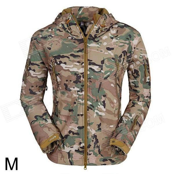 ESDY ESDY-0017 Outdoor Sports Waterproof Warm Polyester Jacket for Men - Camouflage (M) esdy 619 men s outdoor sports climbing detachable quick drying polyester shirt camouflage xxl
