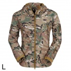 ESDY ESDY-0017 Outdoor Sports Waterproof Warm Polyester Jacket for Men - Camouflage (L)