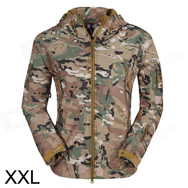 ESDY ESDY-0017 Outdoor Sports Waterproof Warm Polyester Jacket for Men - Camouflage (XXL)