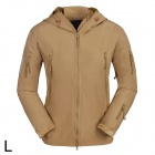 ESDY ESDY-0009 Outdoor Sport Waterproof Warm Polyester Jacket for Men - Khaki (L)