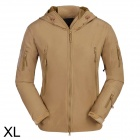 ESDY ESDY-0009 Outdoor Sport Waterproof Warm Polyester Jacket for Men - Khaki (XL)