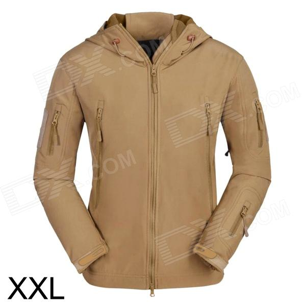 ESDY ESDY-0009 Outdoor Sport Waterproof Warm Polyester Jacket for Men - Khaki (XXL)
