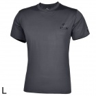 ESDY ESDY-8869 Outdoor Men's Quick Drying Round Neck Short T-Shirt - Dark Grey (Size L)