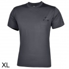 ESDY ESDY-8869 Outdoor Men's Quick Drying Round Neck Short T-Shirt - Dark Grey (Size XL)