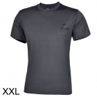 ESDY ESDY-8869 Outdoor Men's Quick Drying Round Neck Short T-Shirt - Dark Grey (Size XXL)