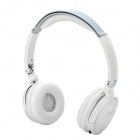 T1000 i Music Stereo DJ Bluetooth V2.1+EDR Headphone w/ TF / FM / Mic / Super Bass - White + Grey