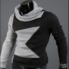 MUGE MJ02 Men's Long-Sleeve T-Shirt - Grey + Black (Size-XL)