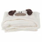Cute Dog Style Ultra-Soft  Baby Blanket - White