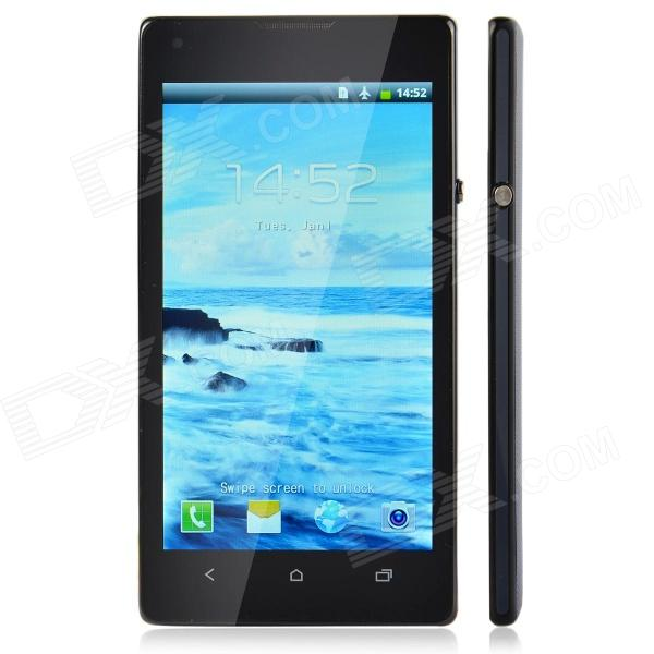 "J L35h Android 2.3 GSM Bar Phone w/ 4.6"" Screen, Quad-Band, Wi-Fi and FM - Black + Blue"