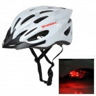 MOON BH-25 PC + EPS Adjustable Cycling Bike Helmet w/ Tail Lamp - White (L)