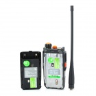 Quansheng TG-K4AT (UV) Dual Band Interphone Walkie Talkie w / Rádio FM - Preto