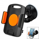 Universal Suction Cup Car Holder Mount for 10~21cm Tablets - Black + Orange