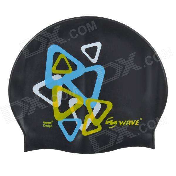 Wave SC4602P Silicone Swimming Cap - Black win max wmb07200 stylish silicone swimming cap white