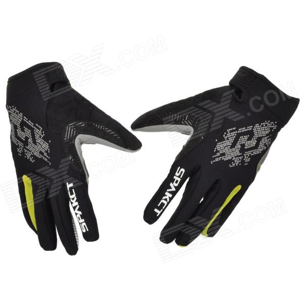 Spakct Outdoor Cycling Quick-drying Full-finger Gloves - Yellow + Black (L / Pair)
