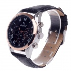 Daybird 3781 Stylish Artificial 3 Eyes + Roman Numerals Quartz Analog Wrist Watch for Men - Black