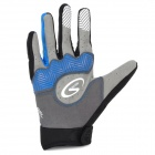 Spakct Outdoor Cycling Full-Finger Breathable Gloves - Blue + Black (Size L / Pair)