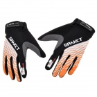Spakct Outdoor Cycling Full-Finger Gloves - Orange + White + Black (Size L / Pair)