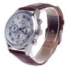 Daybird 3781 Fashion Artificial 3 Eyes + Roman Numerals Quartz Analog Wrist Watch for Men - Brown