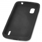 Protective Silicone Back Case for LG Nexus 4 E960 - Black