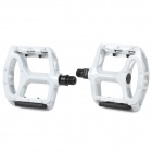 Windspeed G4FED65E9C6AB7 Cycling Aluminum Alloy Pedals w/ Reflector - White (Pair)