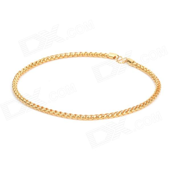 KCCHSTAR High-Quality Fine Copper Electroplating 24K Gold Necklace - Golden kcchstar high quality fine copper electroplating 24k gold necklace golden