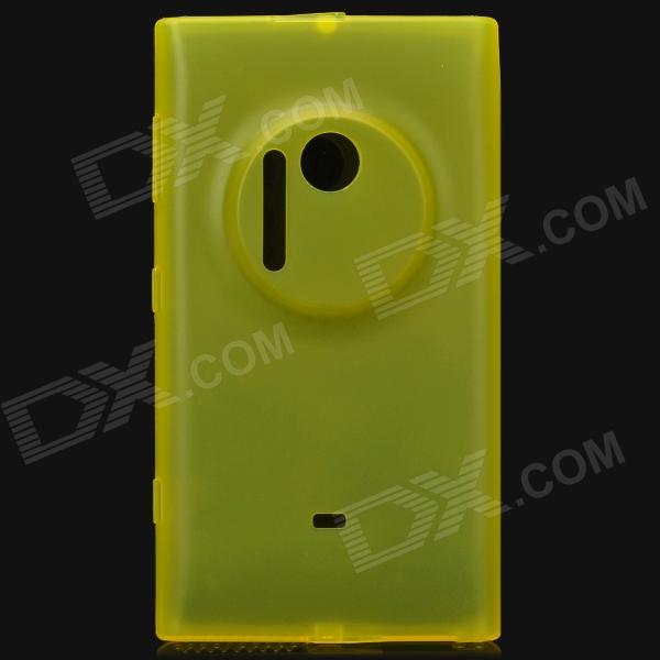 Protective TPU Plastic Matte Back Case for Nokia Lumia 1020 - Yellow protective matte frosted screen protector film guard for nokia lumia 900 transparent