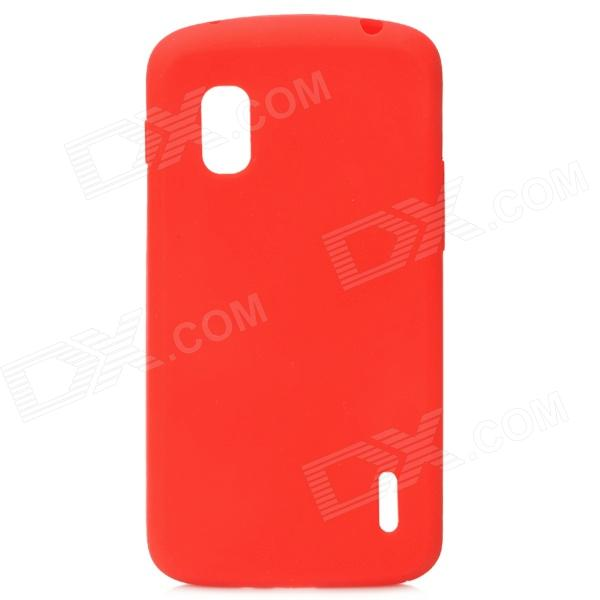 Protective Silicone Back Case for LG Nexus 4 E960 - Red protective silicone back case for lg nexus 4 e960 purple