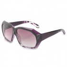 19-3-QQSRO UV400 Protection Plastic Frame Resin Lens Sunglasses for Women - Purple