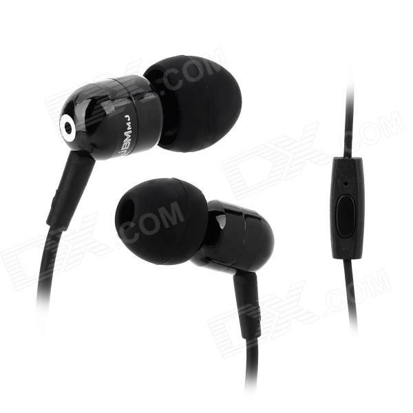 JBM A8 Stylish In-Ear Bass Earphones w/ Microphone for Iphone / Samsung / HTC - Black ovleng ip680 stylish in ear earphones w microphone for samsung iphone htc black silver