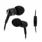 JBM A8 Stylish In-Ear Bass Earphones w/ Microphone for Iphone / Samsung / HTC - Black