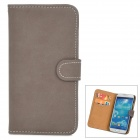 Retro Protective PU Leather Case for Samsung Galaxy S4 i9500 - Dark Brown