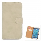 Retro Protective PU Leather Case for Samsung Galaxy S4 i9500 - Grey White