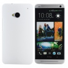 Stylish Plastic Back Case for HTC One M7 - White