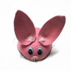 Children's Animal Rabbit Style Hat - Pink + White + Black + Blue