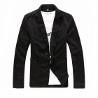 Fashionable Autumn Knitting Small Suit for Men - Black (Size-XXL)