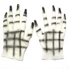 Terror Female Ghost Gloves - Black + White (Pair)