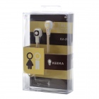 KEEKA KA-24 Stylish In-Ear Earphone w/ Microphone for Cellphone - Coffee + White + Beige