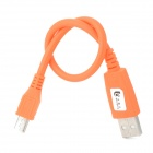 USB-Stecker an Micro-USB-Stecker aufladen Datenkabel - Orange (27cm)