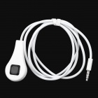 3.5mm Plug Camera Shutter Cable for Android Cell Phone / Tablet PC - White