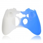 Protective Silicone Cover Case for Xbox 360 Controller - White + Blue
