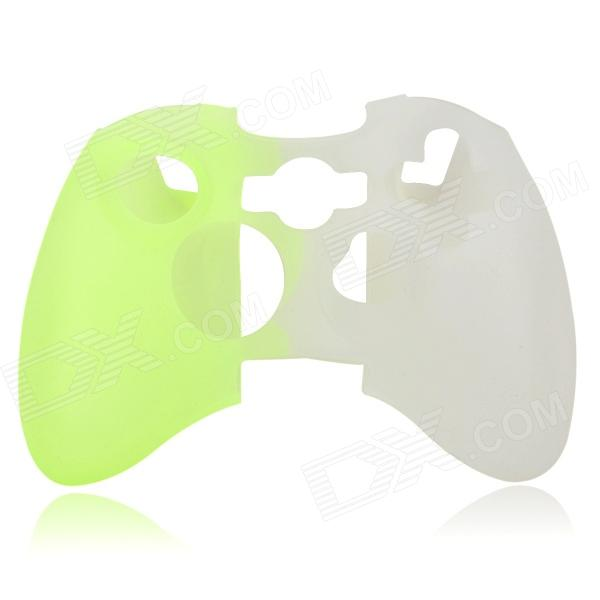 Protective Silicone Cover Case for Xbox 360 Controller - Green + White protective silicone case for xbox one controller camouflage green