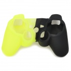 Protective Silicone Cover Case for PS3 Controller - Black + Yellow