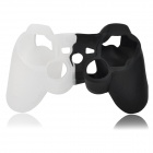 Protective Silicone Cover Case for PS3 Controller - White + Black