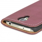 Retro Protective PU Leather Case for Samsung Galaxy S4 i9500 - Dark Purple