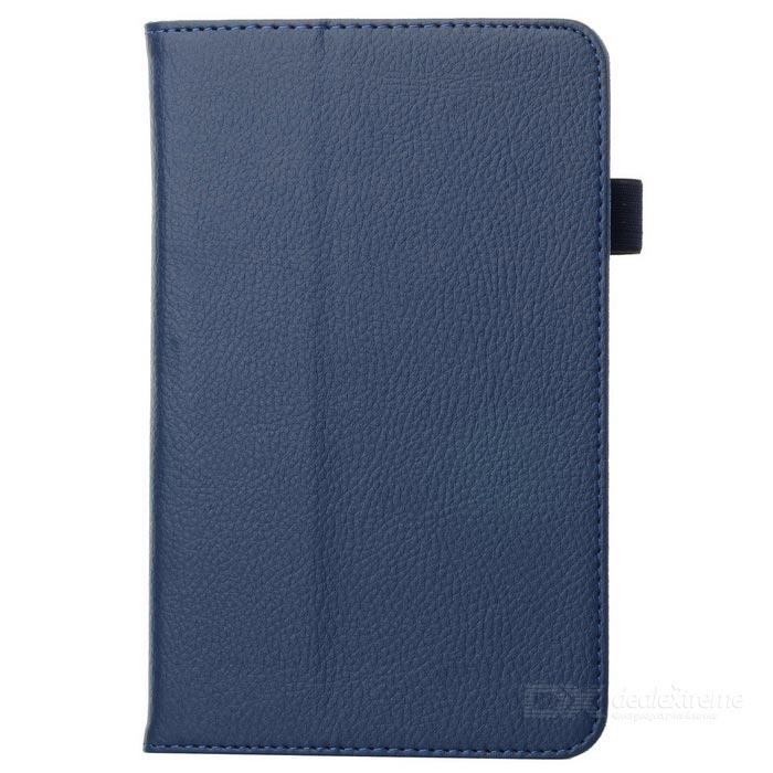 Protective Lichee Pattern PU Leather Flip Open Case for Samsung Tab3 T210 - Blue luxury flip stand case for samsung galaxy tab 3 10 1 p5200 p5210 p5220 tablet 10 1 inch pu leather protective cover for tab3