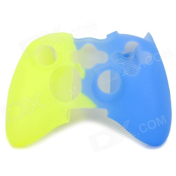 Protective Silicone Cover Case for Xbox 360 Controller - Yellow + Blue protective silicone case for xbox one controller camouflage green